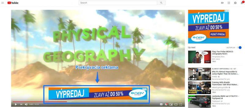 Prekrývacia reklama youtube